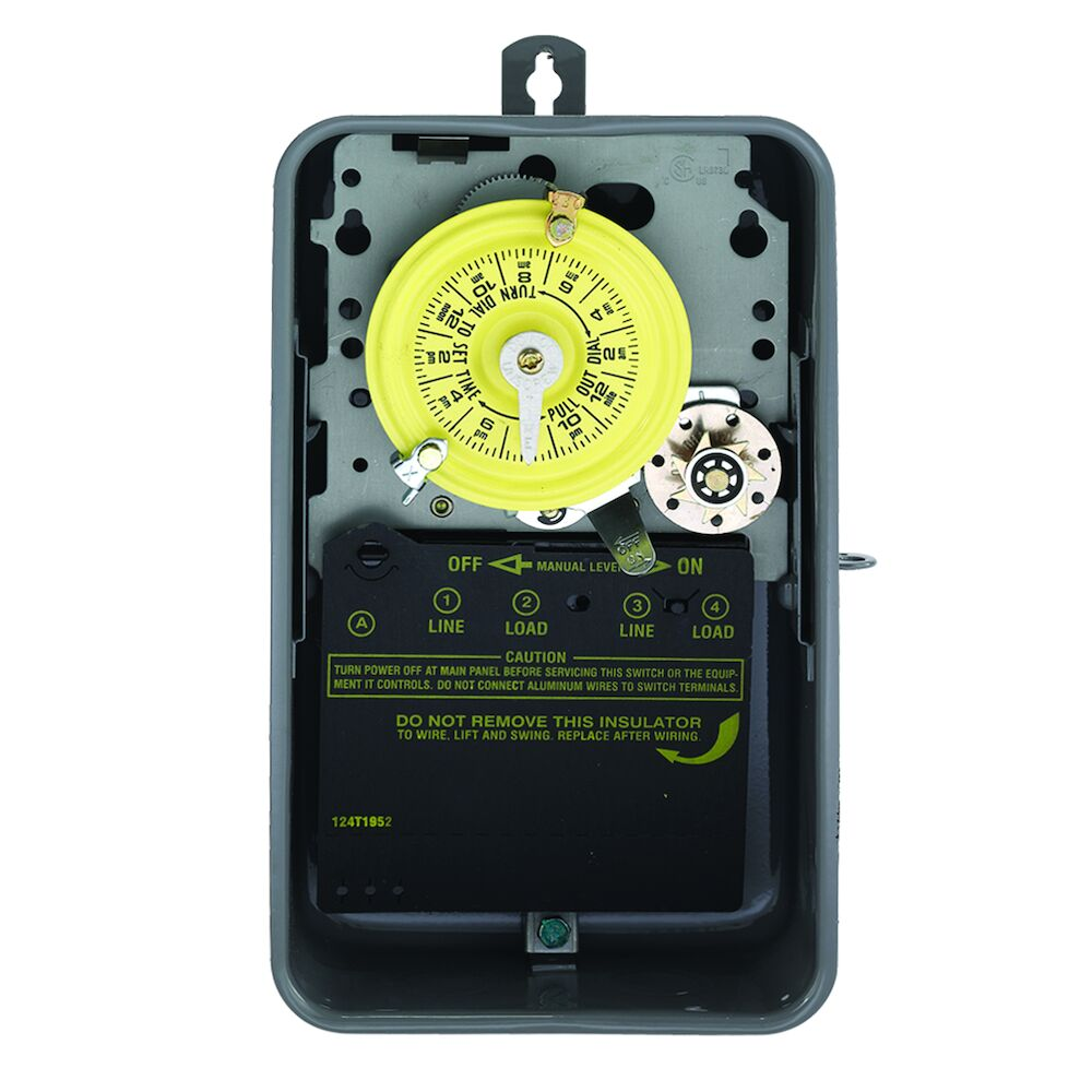 24-Hour Mechanical Time Switch with Skip-a-Day, 208-277 VAC, 60Hz, DPST, Outdoor Metal Enclosure, 1 Hour Interval redirect to product page