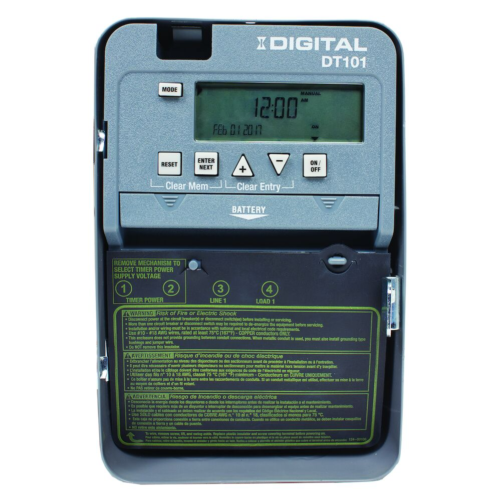 24-Hour 1-Circuit Electronic Control, 120-277 VAC, 50/60 Hz, SPST, Indoor Metal Enclosure redirect to product page