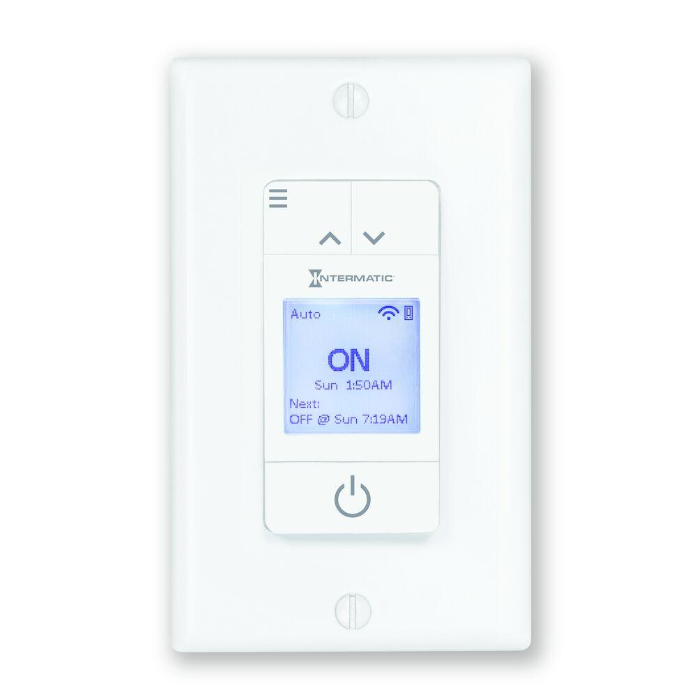 Ascend Smart 7-Day Programmable Wi-Fi Timer, 120 VAC, 15A, White
