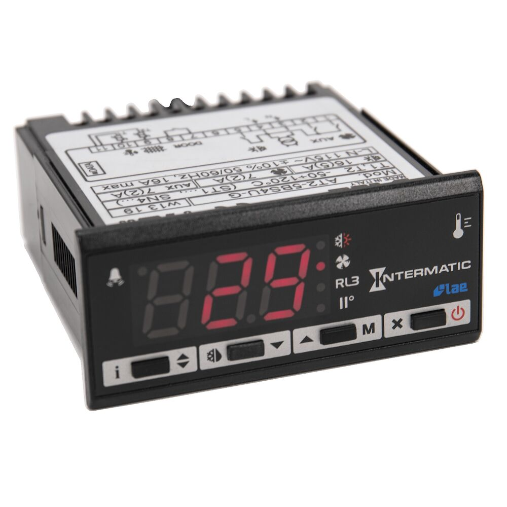 Refrigeration Controller, 2 NTC/PTC Sensors, 1 Digital Input, 115 VAC, Screw Terminals, RS485 redirect to product page