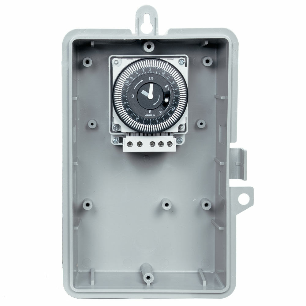 24-Hour 208/240V Electromechanical Timer, 15 Minute Intervals, 21A, SPDT, Type 1 Indoor Plastic Enclosure redirect to product page