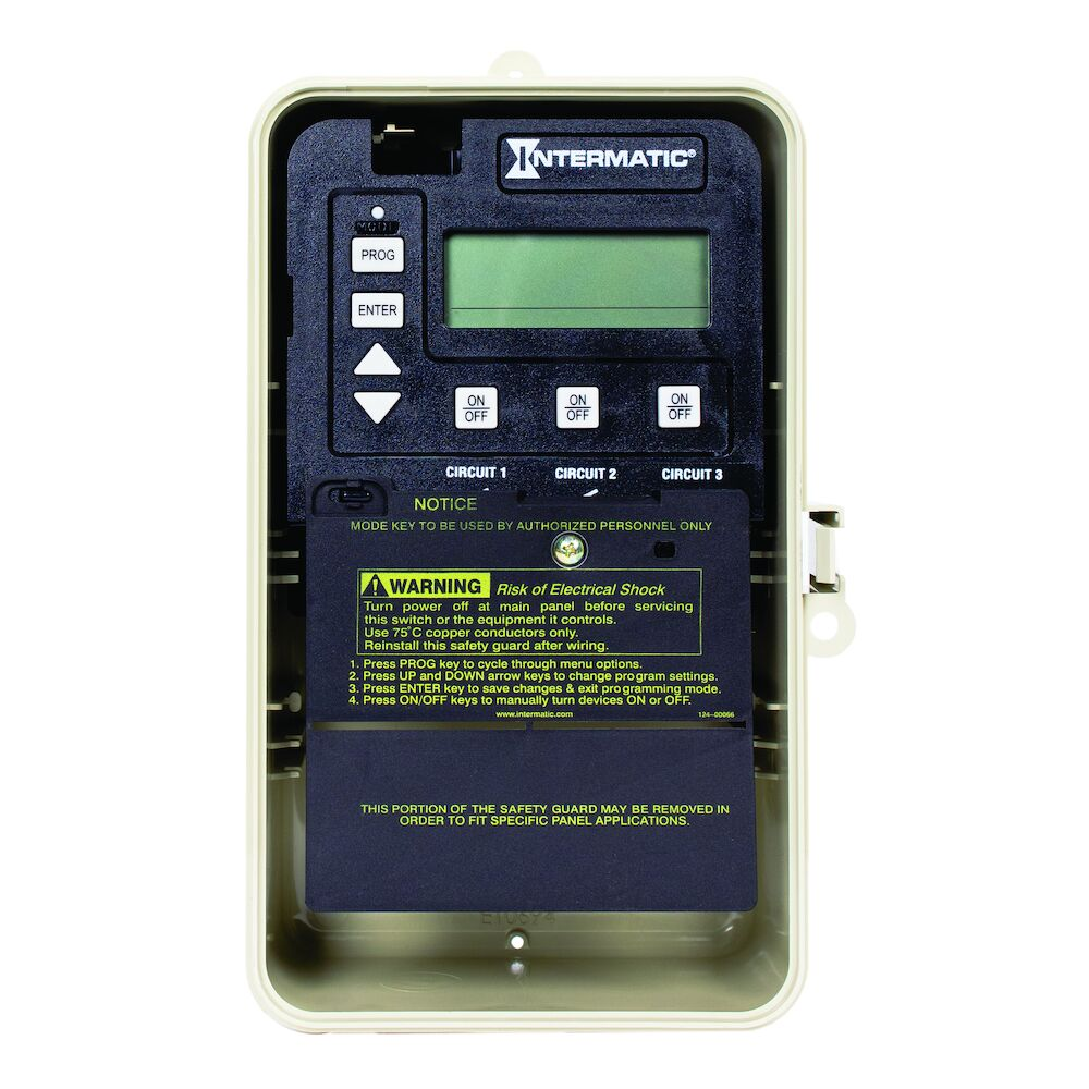 24-Hour Electronic Time Control, 3-Circuit, Type 3R Plastic Enclosure redirect to product page