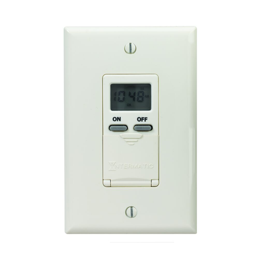 7-Day Standard Programmable Timer, 125 VAC, 15A, Light Almond redirect to product page