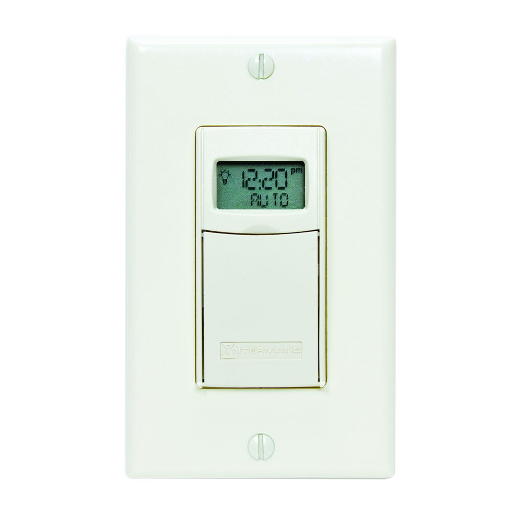 7-Day Heavy-Duty Programmable Timer, 120-277 VAC, 20A, Light Almond redirect to product page