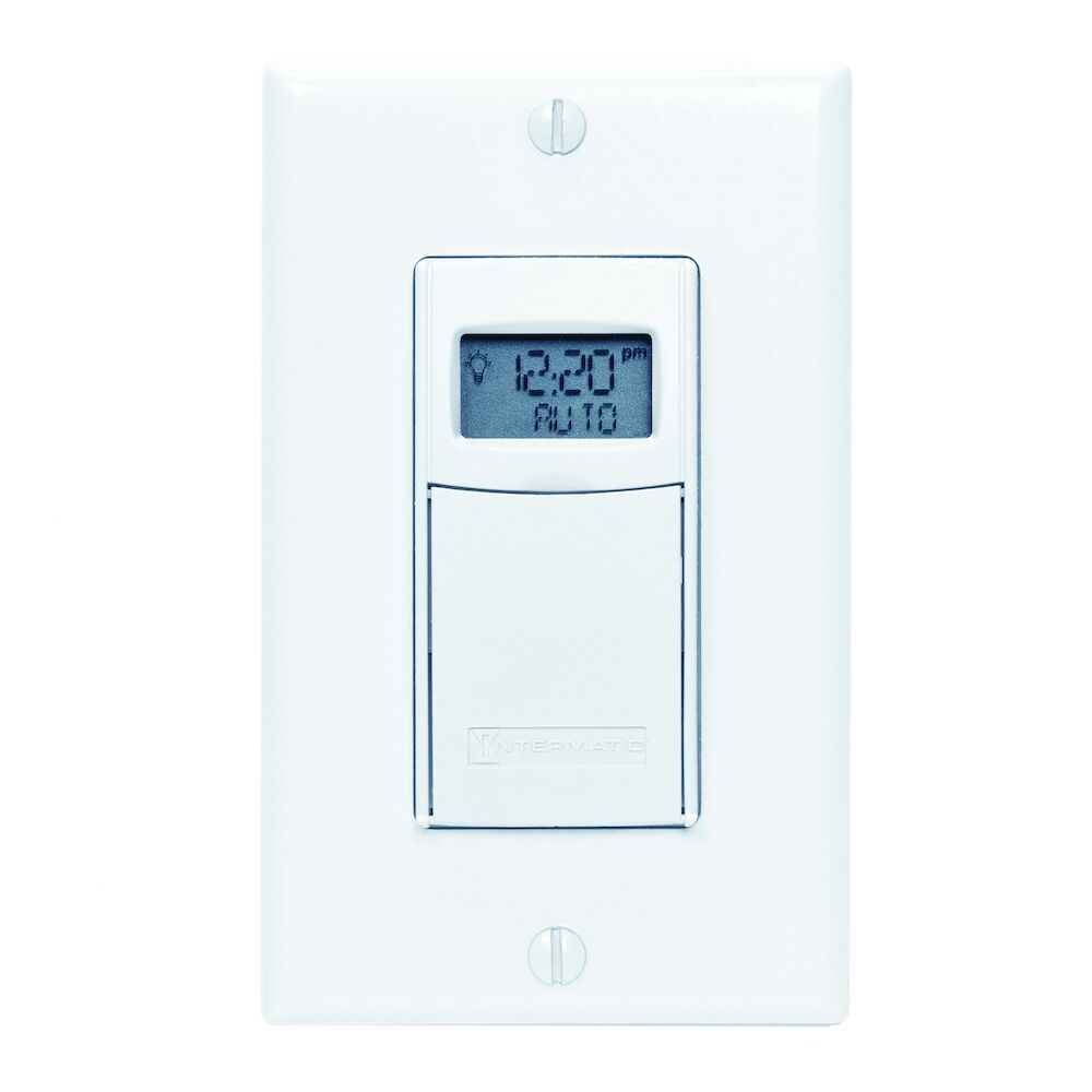 7-Day Heavy-Duty Programmable Timer, 120-277 VAC, 20A, White redirect to product page
