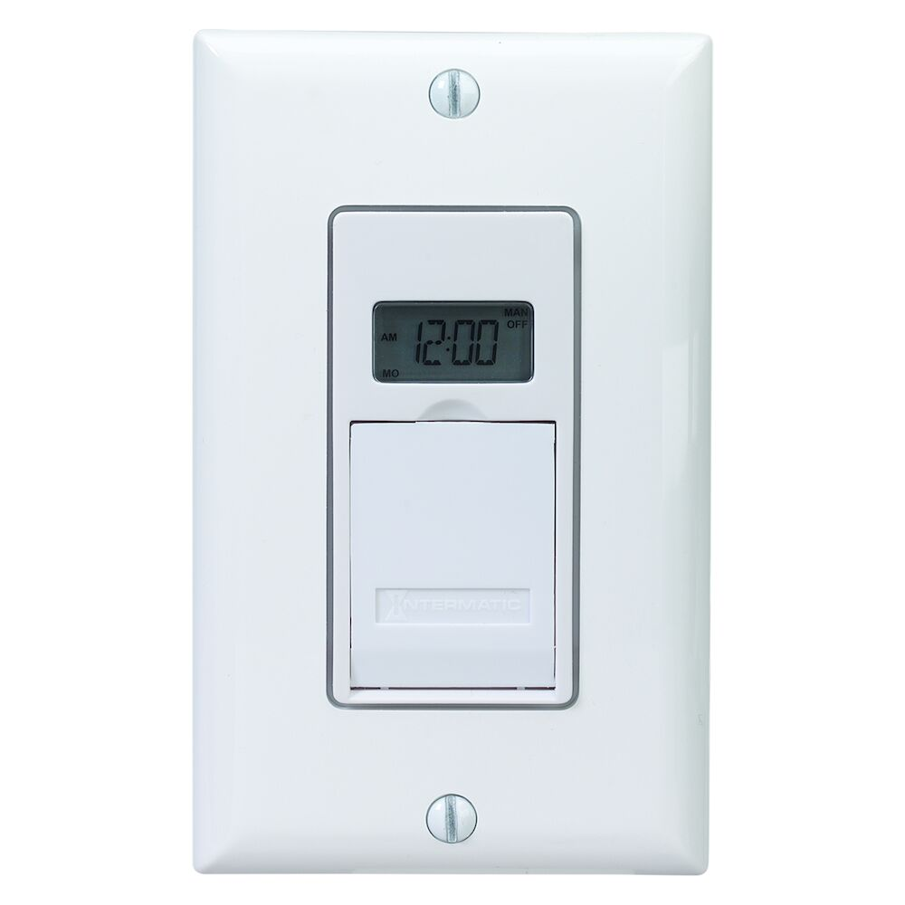 7-Day Standard Programmable Timer, 120 VAC, 12A, White redirect to product page