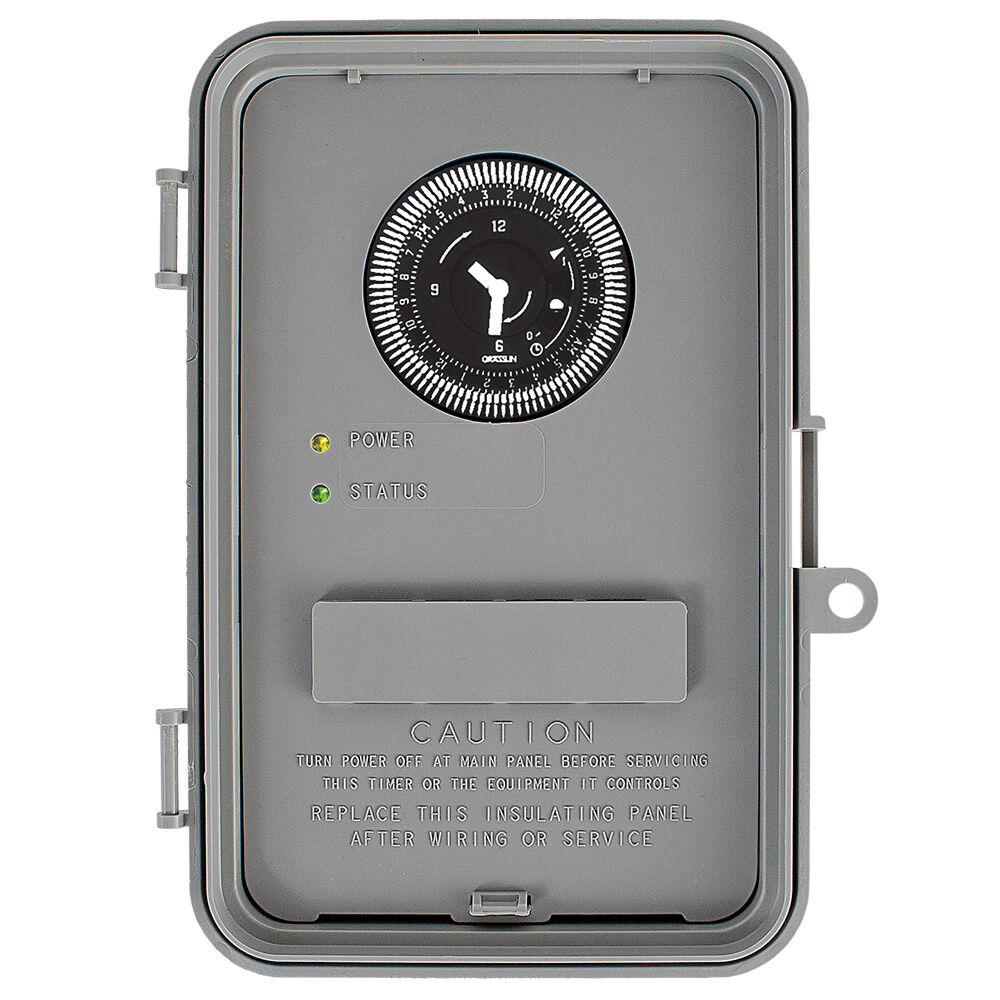24 Hour 120-240V Water Heater Timer with Battery Backup and Auto-voltage, 40A SPDT/DPDT,  Type 3R Indoor/Outdoor Plastic Enclosure redirect to product page