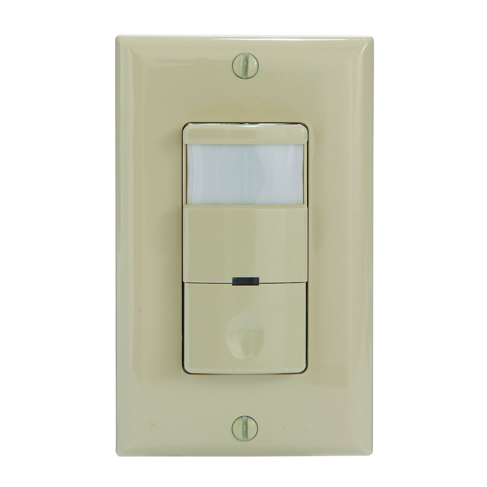 Commercial Grade In-Wall PIR Occupancy/Vacancy Sensor, Ivory redirect to product page