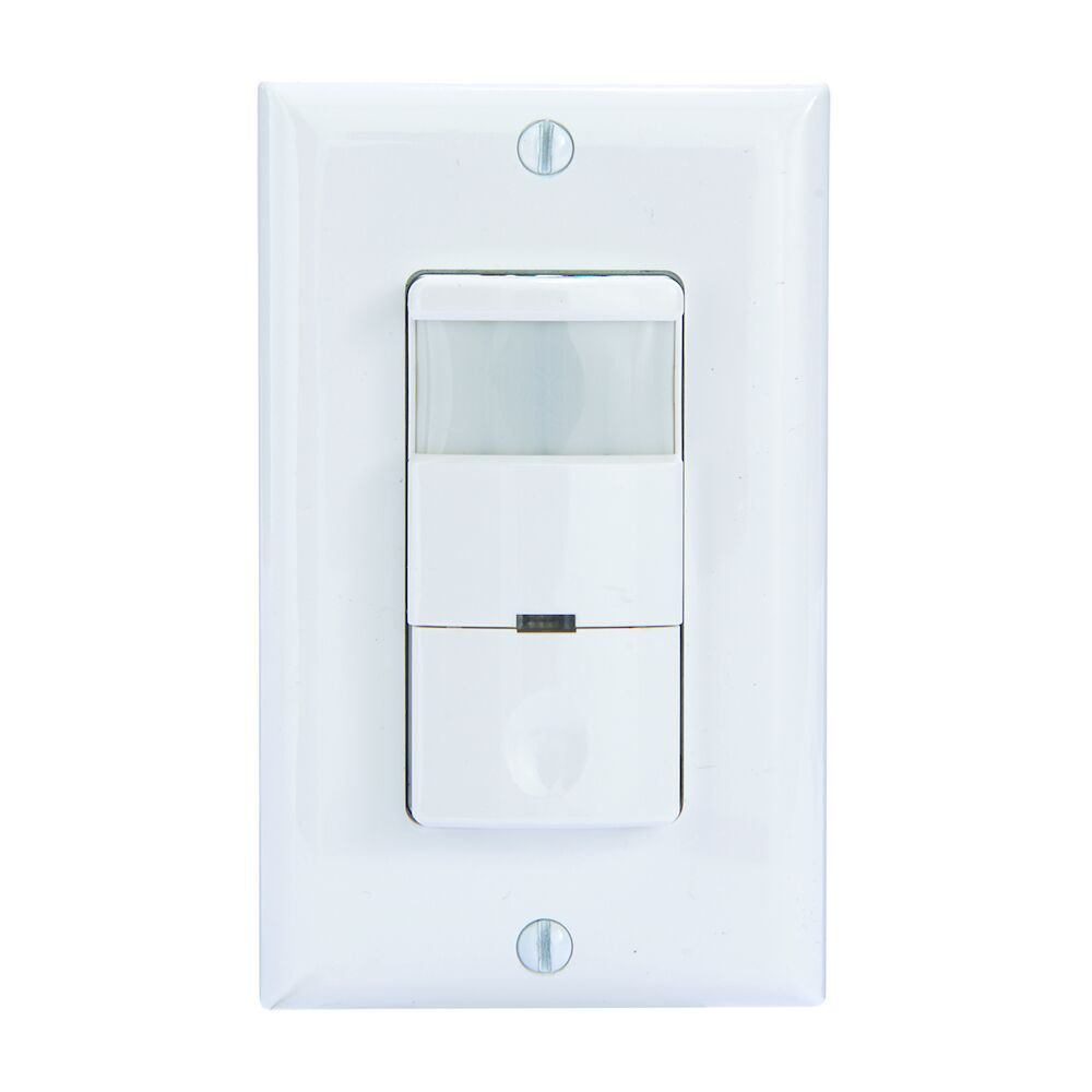 Commercial Grade In-Wall PIR Occupancy/Vacancy Sensor, White redirect to product page