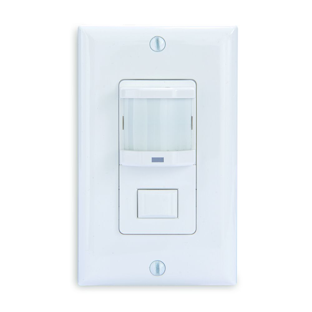 Residential In-Wall Push Button PIR Occupancy Sensor, White redirect to product page