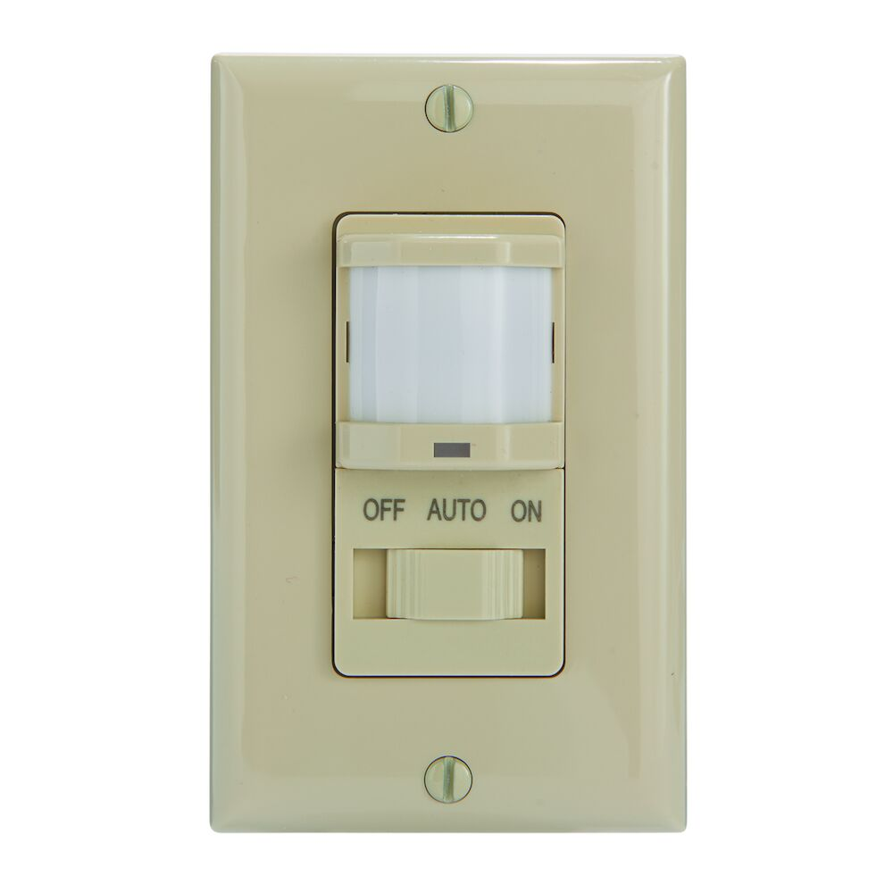 Residential In-Wall PIR Occupancy Sensor, No Neutral Required, Ivory redirect to product page