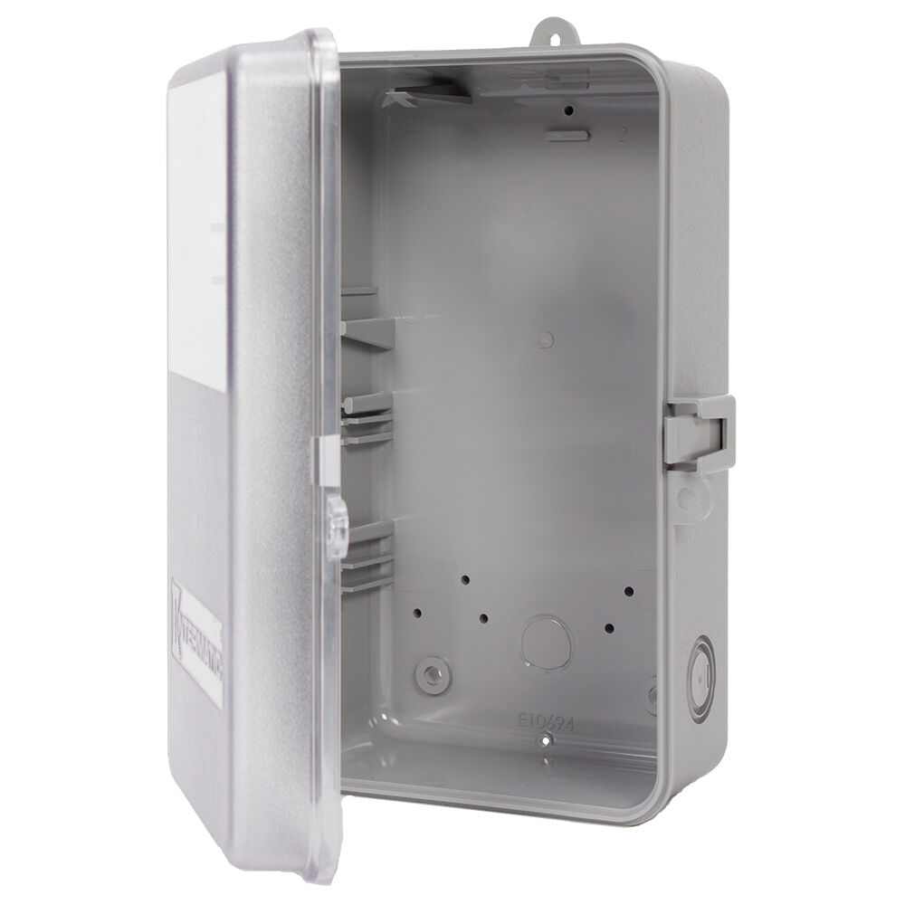 Case-Outdoor, Type 3R Plastic, Gray with See-Through Window redirect to product page