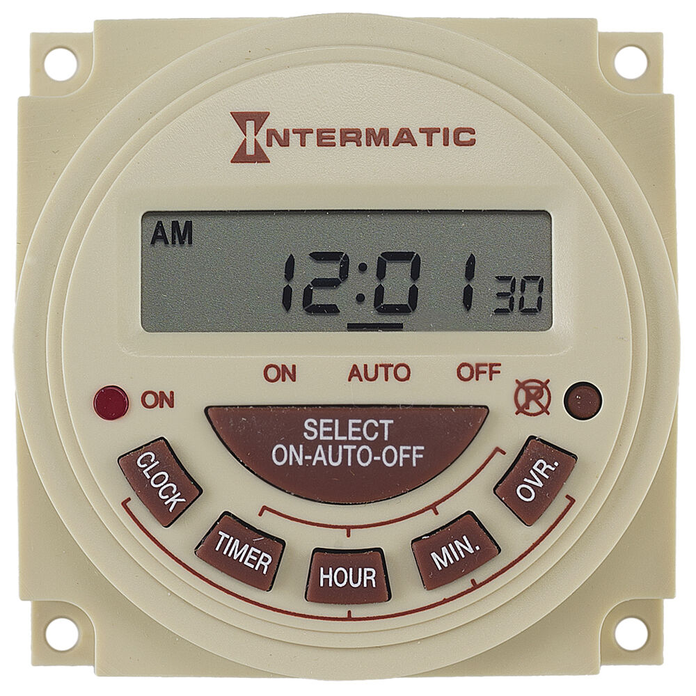 24-Hour 240V Electronic Panel Mount Timer redirect to product page