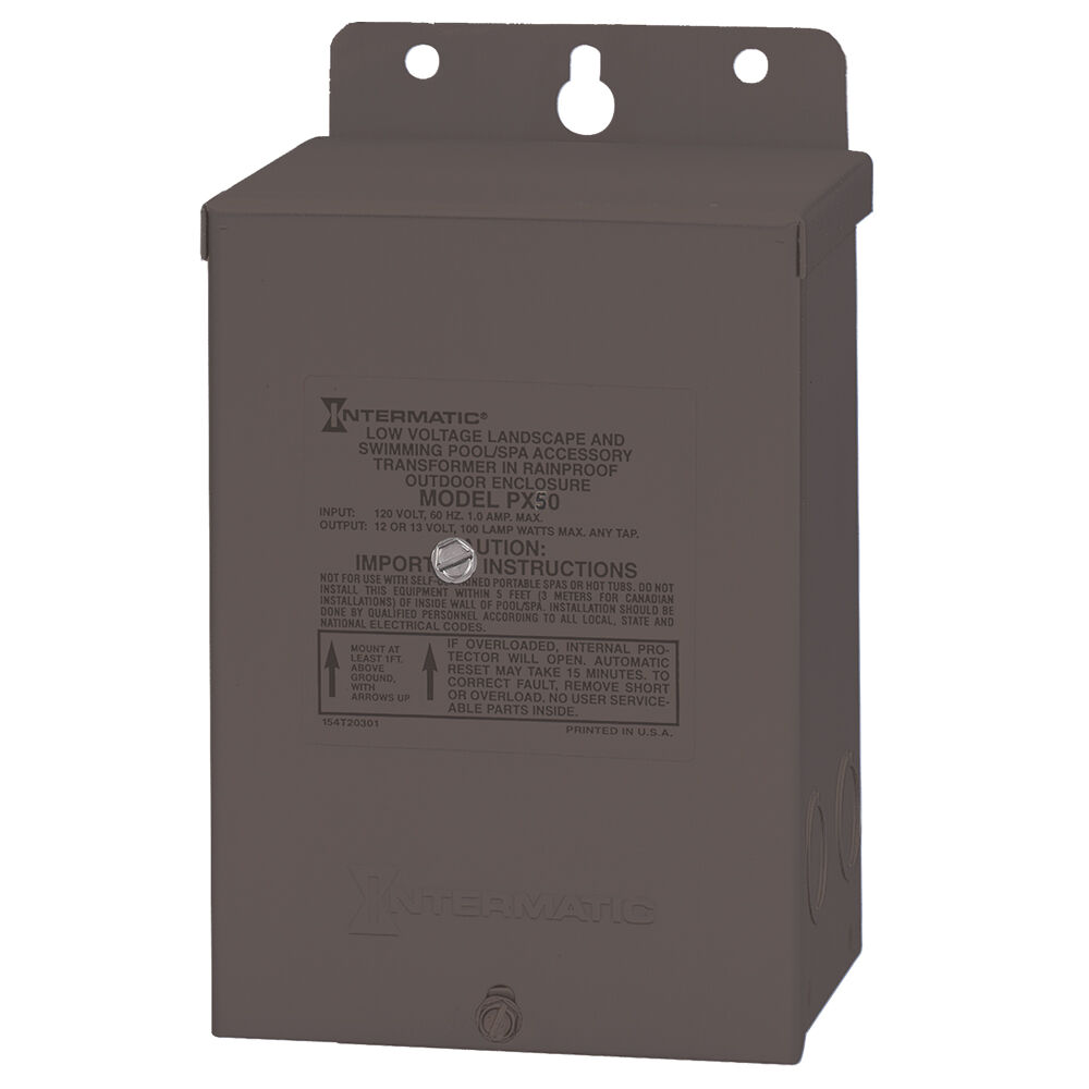 50 W Pool & Spa Safety Transformer, Stainless Steel Enclosure, Input 120V, Output 12,13,14 V redirect to product page