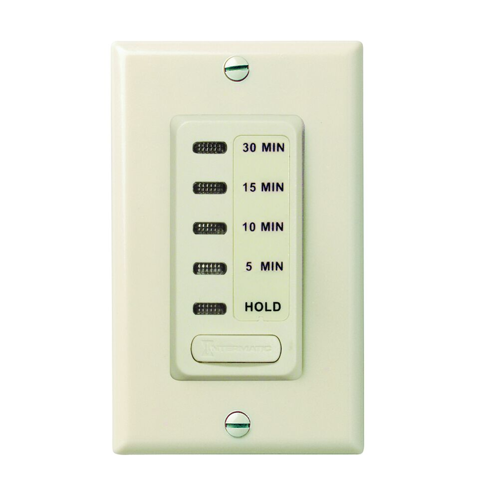Electronic Countdown Timer, 120 VAC, 60 Hz, Preset Times 5,10,15,30 Minute, With Hold, Light Almond redirect to product page