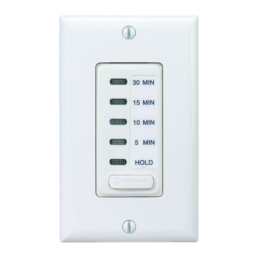 Electronic Countdown Timer, 120 VAC, 60 Hz, Preset Times 5,10,15,30 Minute, With Hold, White redirect to product page