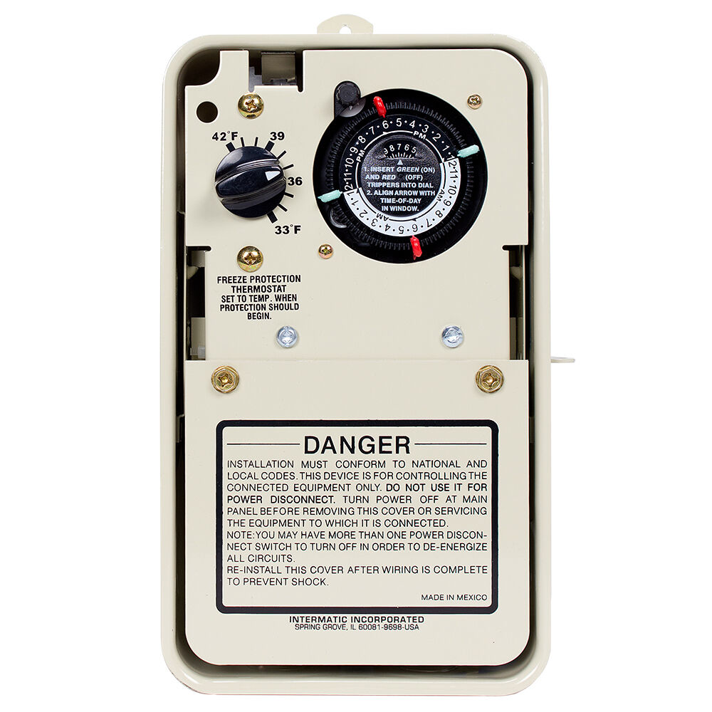 Freeze Protection Timer with Thermostat for 240V Applications, Type 3R Metal Enclosure redirect to product page