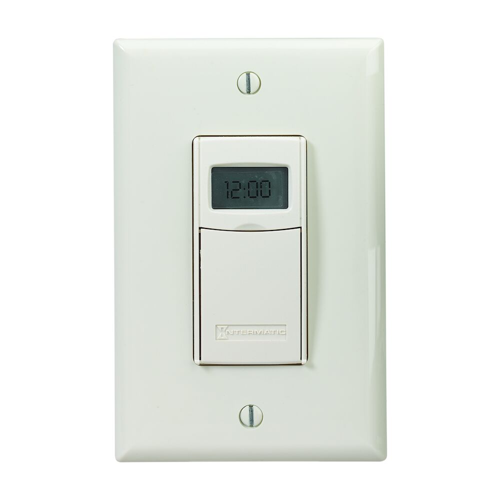 Electronic Countdown Timer, Programmable, 120-277 VAC, 50/60 Hz, 1 Second to 24 Hours, Light Almond redirect to product page