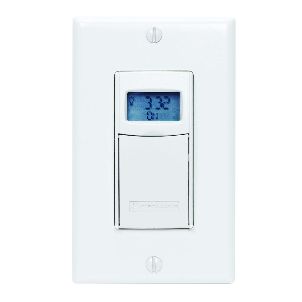 Electronic Countdown Timer, Programmable, 120-277 VAC, 50/60 Hz, 1 Second to 24 Hours, White redirect to product page