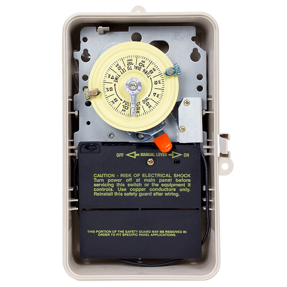 24-Hour 208-277V Mechanical Time Switch, DPST, Pool Heater Protection, Type 3R Plastic Enclosure redirect to product page