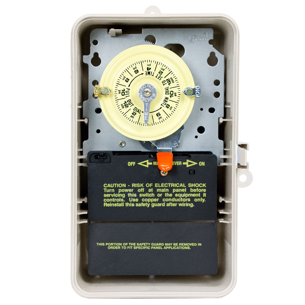 24-Hour 208-277V Mechanical Time Switch, SPDT, Type 3R Plastic Enclosure redirect to product page