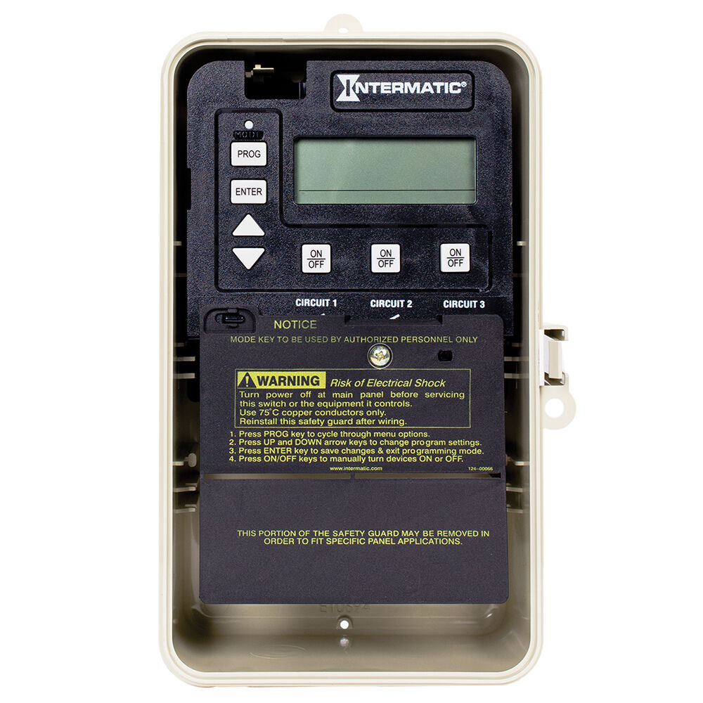 24-Hour Electronic Time Control, 3-Circuit, Freeze Protection Probe, Type 3R Plastic Enclosure redirect to product page