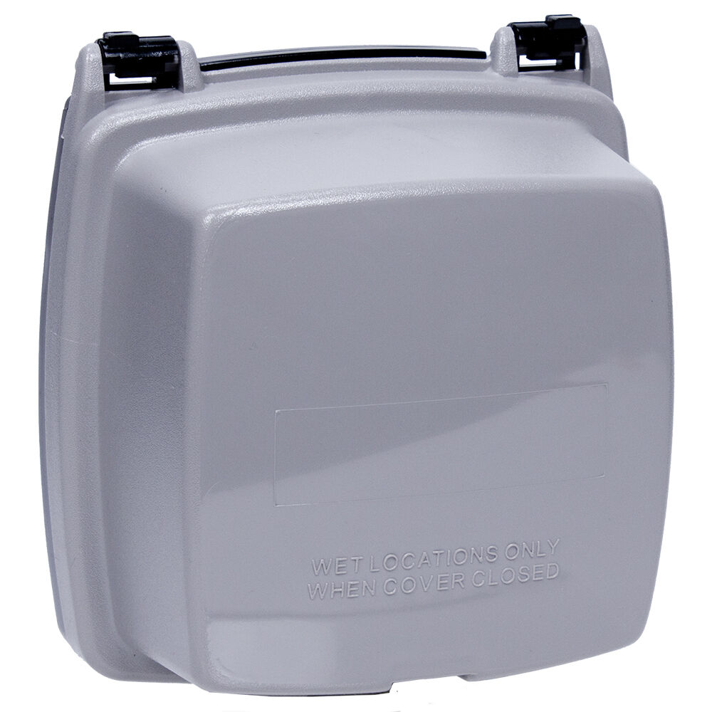 """Plastic In-Use Weatherproof Cover, Double-Gang, Vrt, 2.25"""" Gray redirect to product page"""