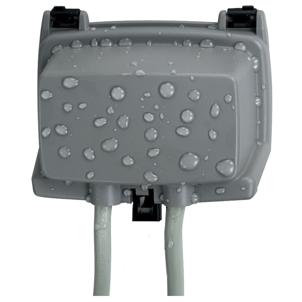 """Plastic In-Use Weatherproof Cover, Single-Gang, Hrz, 2.25"""" Gray redirect to product page"""