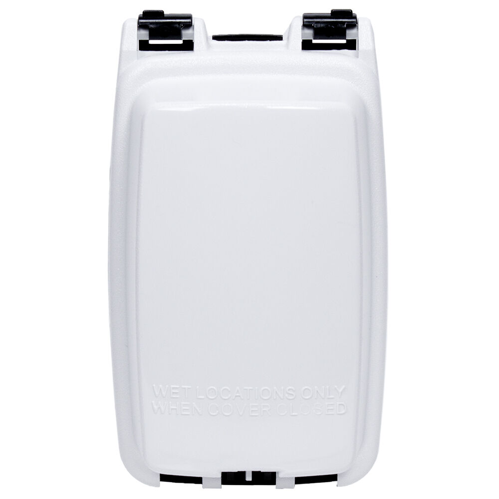 """Plastic In-Use Weatherproof Cover, Single-Gang, Vrt, 2.25"""" White redirect to product page"""