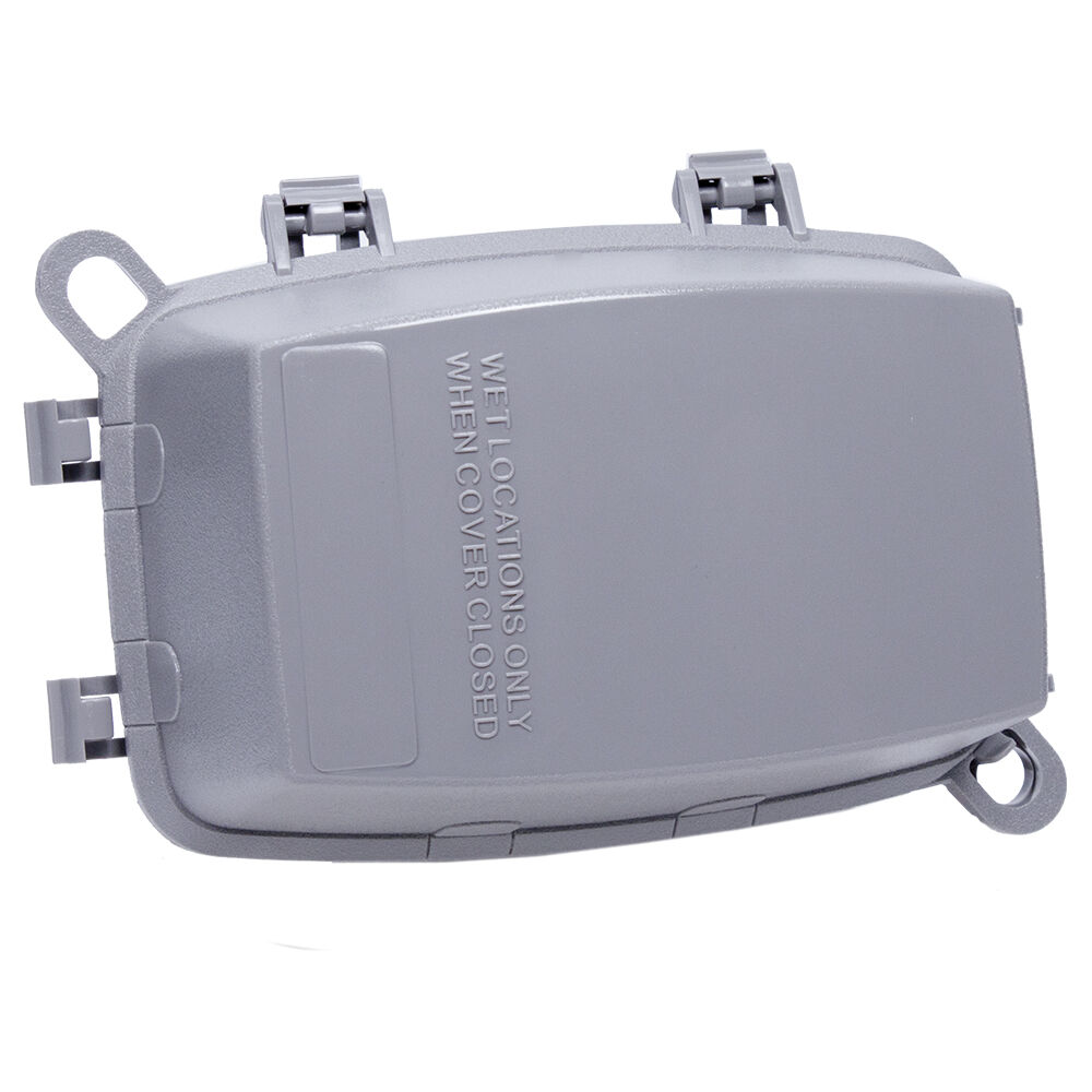 """Plastic In-Use Weatherproof Cover, Single-Gang, Vrt/Hrz, 3.625"""" Gray redirect to product page"""