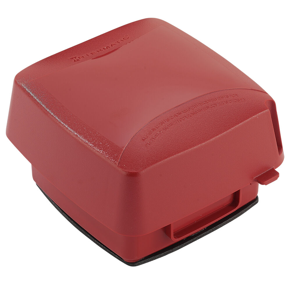 """Extra-Duty Plastic In-Use Weatherproof Cover, Double-Gang, Vrt, 3.625"""" Red redirect to product page"""