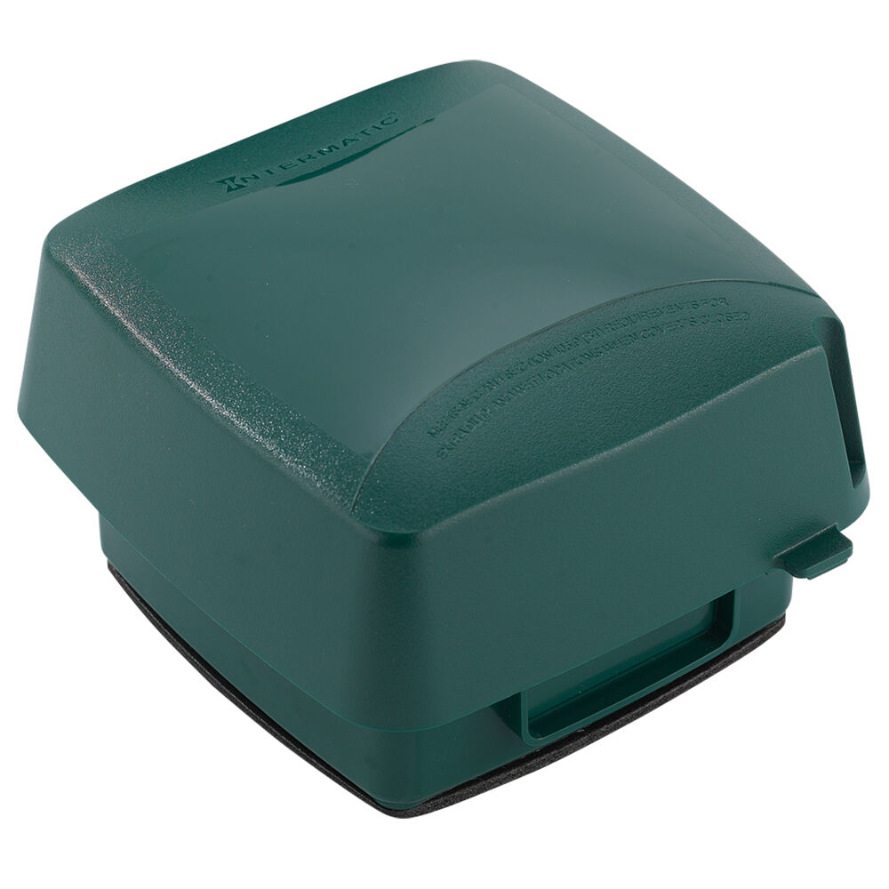 """Extra-Duty Plastic In-Use Weatherproof Cover, Double-Gang, Vrt, 3.625"""" Green redirect to product page"""