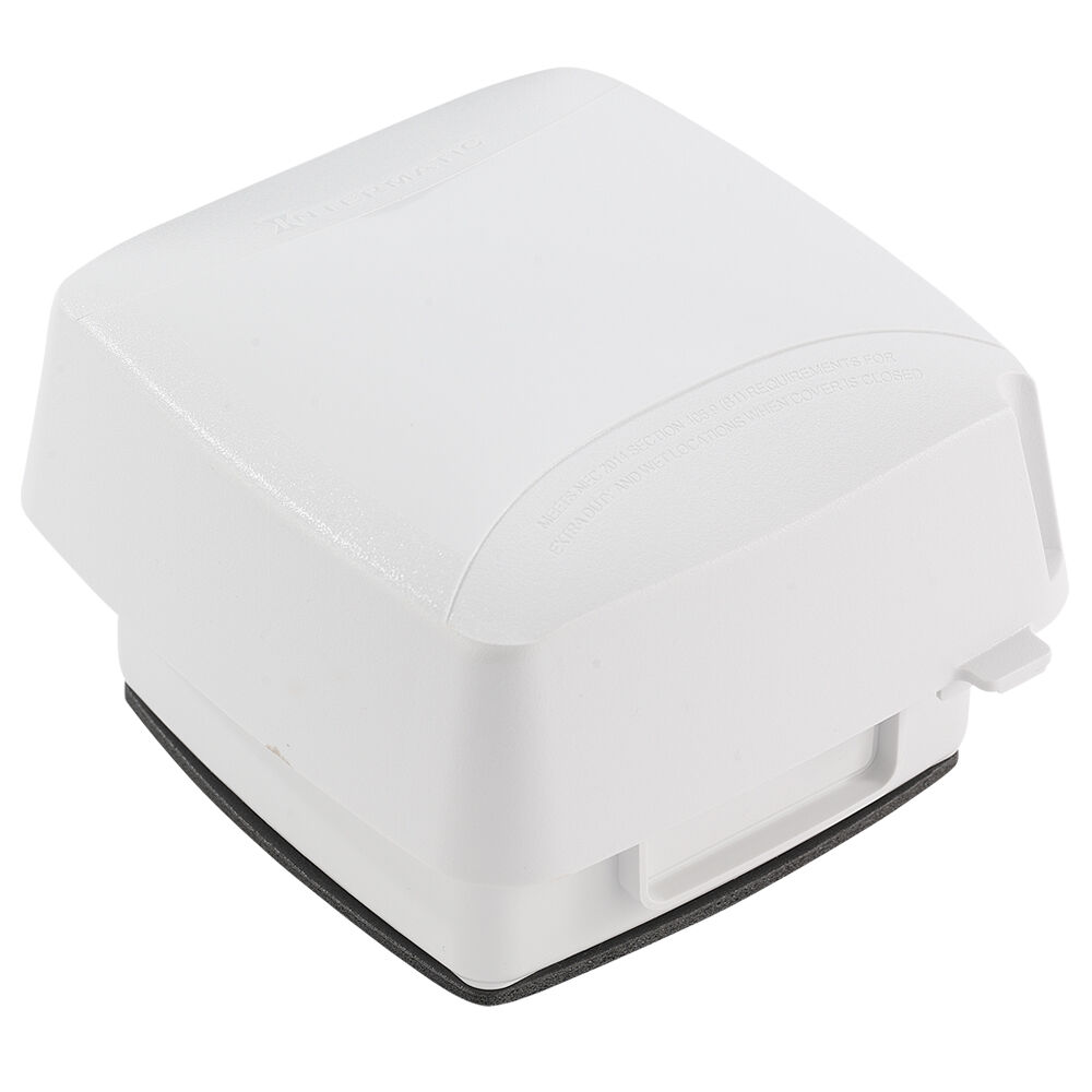 """Extra-Duty Plastic In-Use Weatherproof Cover, Double-Gang, Vrt, 3.625"""" White redirect to product page"""