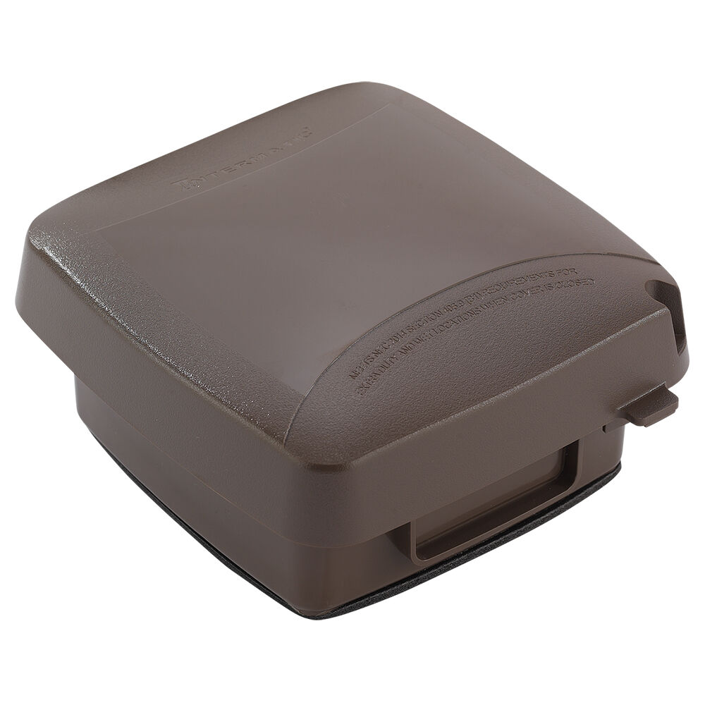 """Extra-Duty Plastic In-Use Weatherproof Cover, Double-Gang, Vrt, 2.75"""" Bronze redirect to product page"""