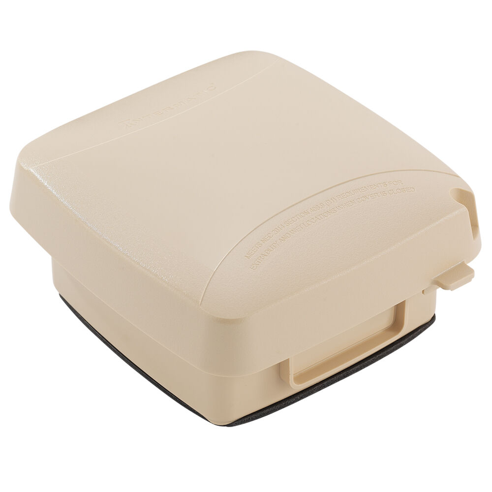 """Extra-Duty Plastic In-Use Weatherproof Cover, Double-Gang, Vrt, 2.75"""" Beige redirect to product page"""
