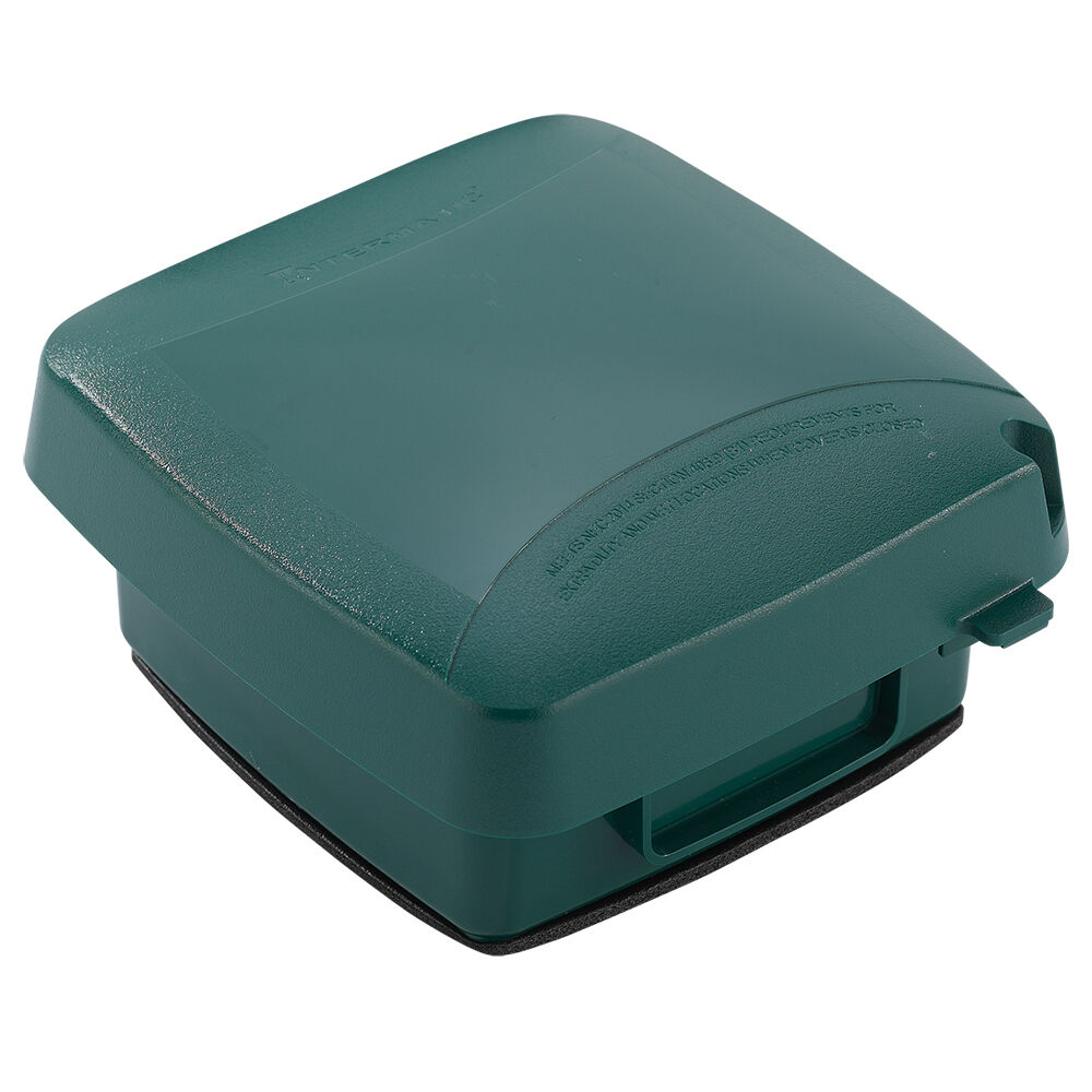 """Extra-Duty Plastic In-Use Weatherproof Cover, Double-Gang, Vrt, 2.75"""" Green redirect to product page"""