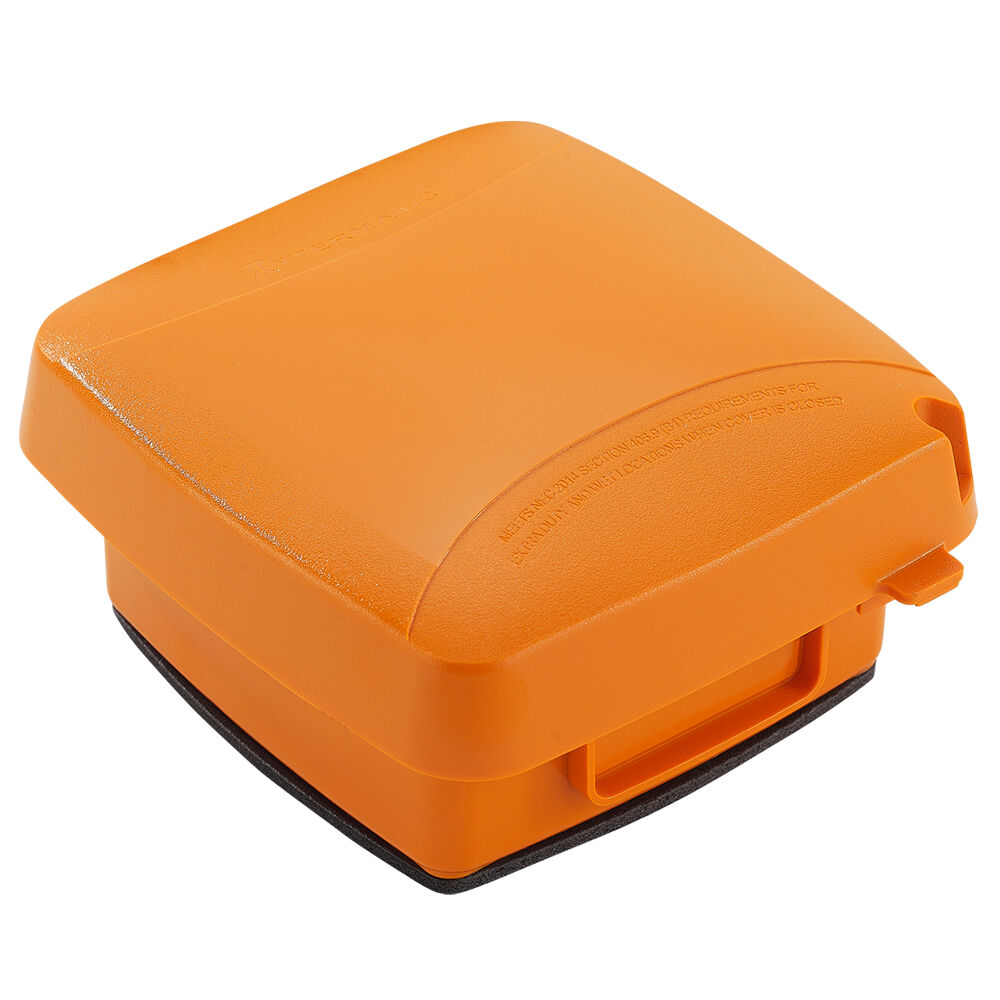 """Extra-Duty Plastic In-Use Weatherproof Cover, Double-Gang, Vrt, 2.75"""" Orange redirect to product page"""