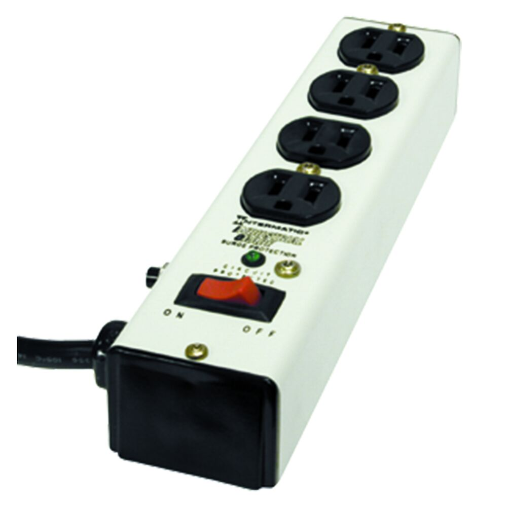 Surge Protective Device, Point-of-use strip, White, 3-Mode, 4 Outlets, 125 VAC, Type 3, Connected Equipment Warranty 5 yr $10,000 redirect to product page
