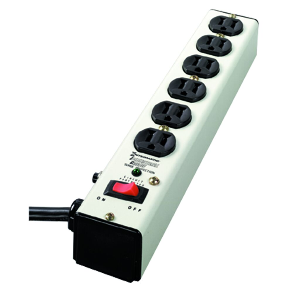 Surge Protective Device, Point-of-use Strip, White, 3-Mode, 6 Outlets, 125 VAC, Type 3, Connected Equipment Warranty 5 yr $10,000 redirect to product page