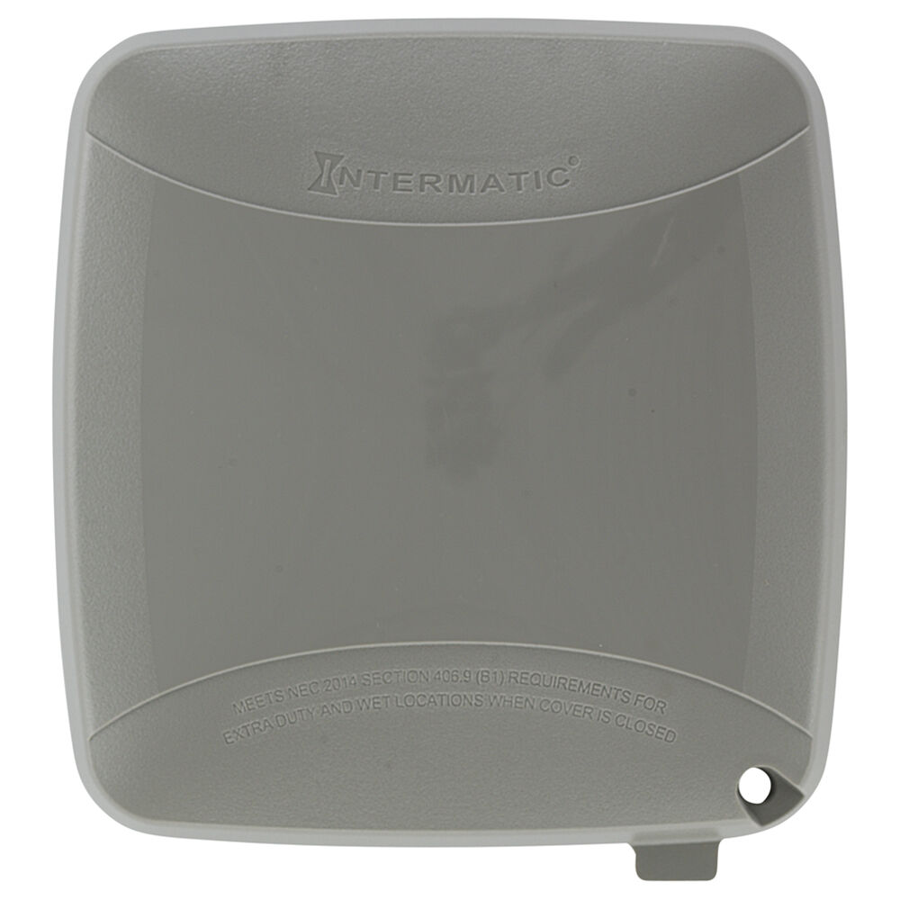 """Extra-Duty Plastic In-Use Weatherproof Cover, Double-Gang, Vrt, 2.75"""" Gray redirect to product page"""
