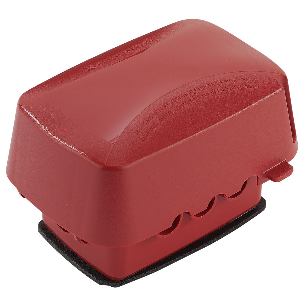 """Extra-Duty Plastic In-Use Weatherproof Cover, Single-Gang, Vrt/Hrz, 3.625"""" Red redirect to product page"""