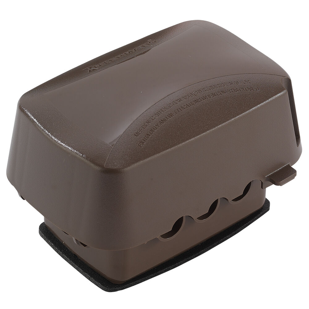 """Extra-Duty Plastic In-Use Weatherproof Cover, Single-Gang, Vrt/Hrz, 3.625"""" Bronze redirect to product page"""
