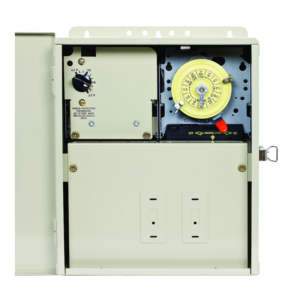 Freeze Protection Control Center with Timer and Thermostat for 240V Applications, Type 3R Metal Enclosure redirect to product page
