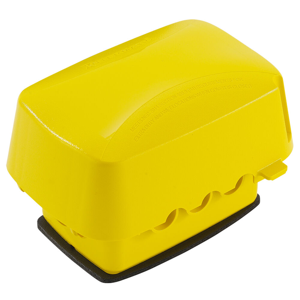 """OBSOLETE Extra-Duty Plastic In-Use Weatherproof Cover, Single-Gang, Vrt/Hrz, 3.625"""" Yellow redirect to product page"""