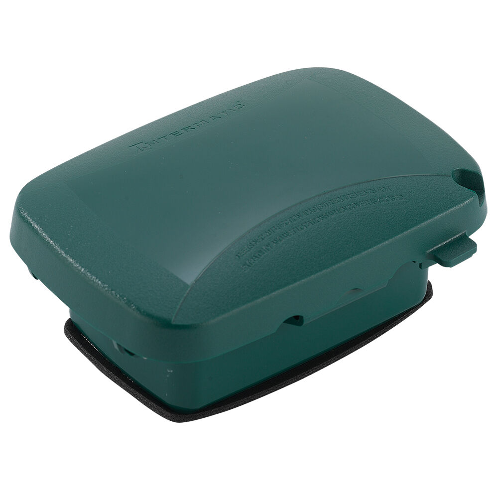 """Extra-Duty Plastic In-Use Weatherproof Cover, Single-Gang, Vrt/Hrz, 2.25"""" Green redirect to product page"""