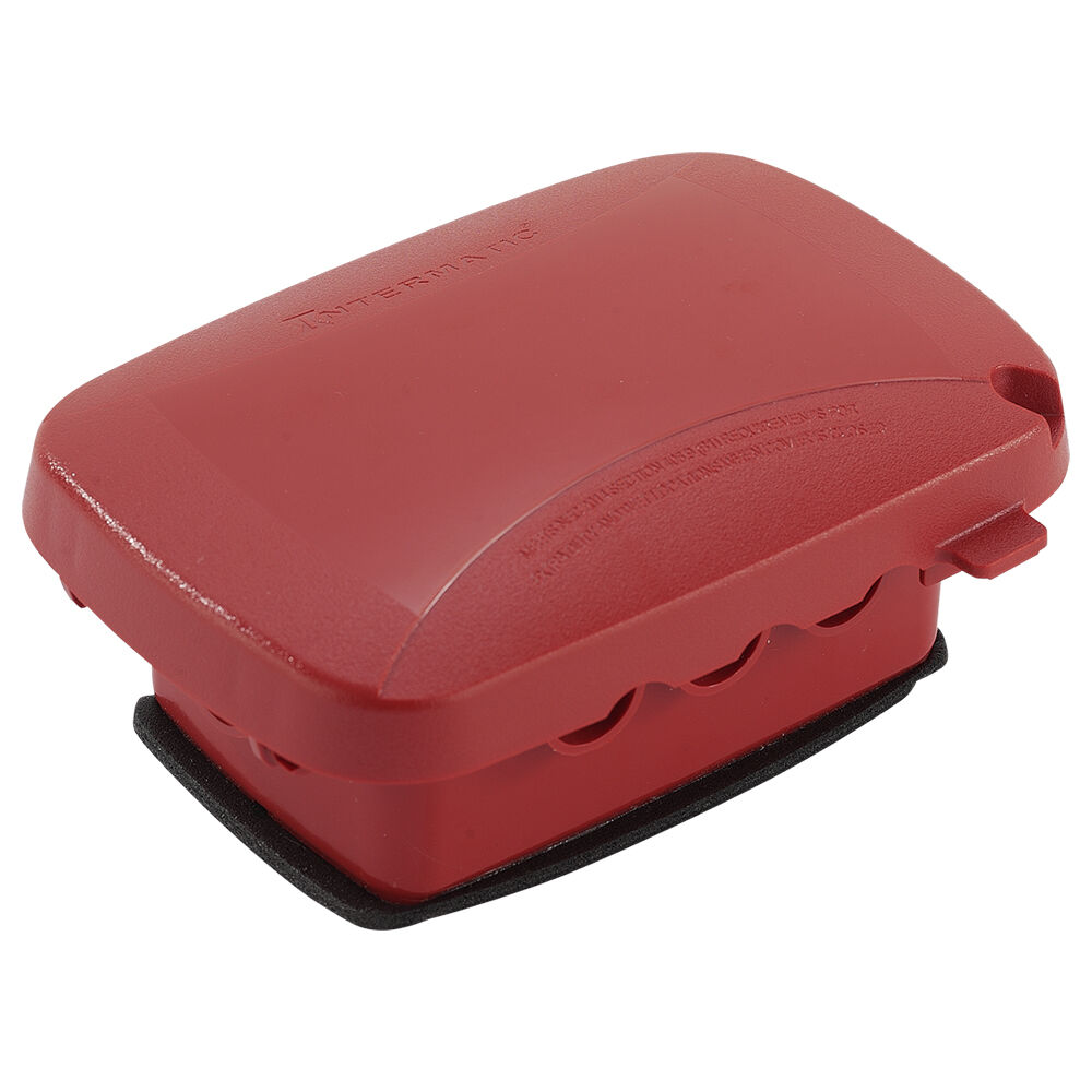 """Extra-Duty Plastic In-Use Weatherproof Cover, Single-Gang, Vrt/Hrz, 2.25"""" Red redirect to product page"""