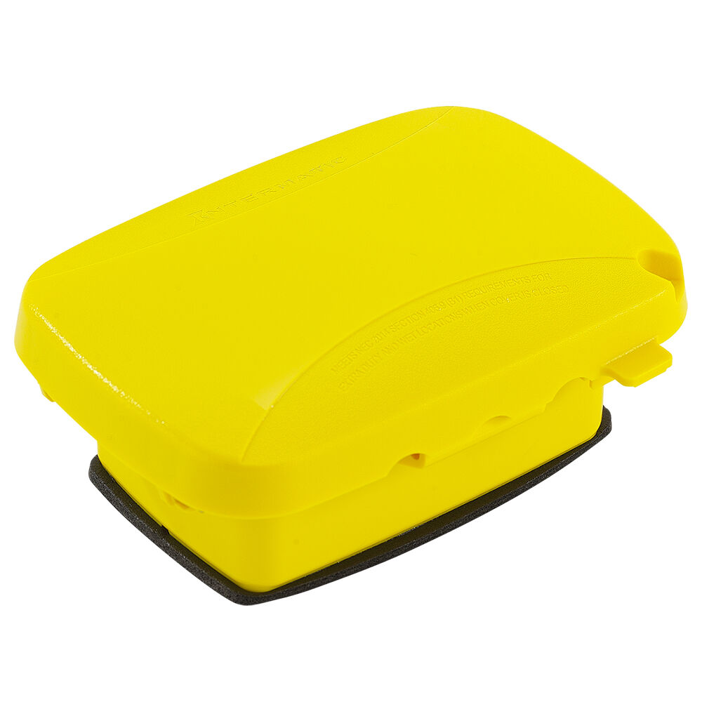 """Extra-Duty Plastic In-Use Weatherproof Cover, Single-Gang, Vrt/Hrz, 2.25"""" Yellow redirect to product page"""