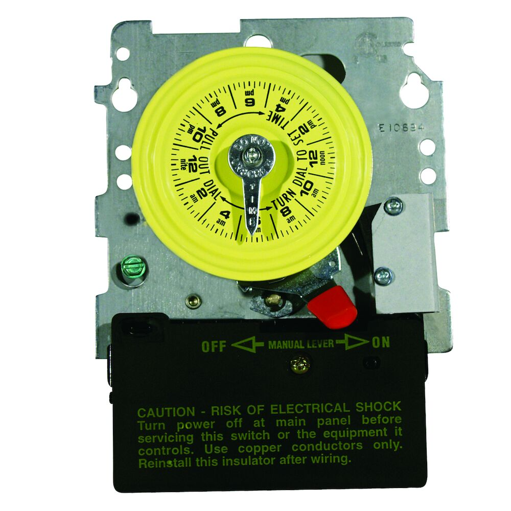 24-Hour 208-277V Mechanical Time Switch, DPST, Pool Heater Protection, Mechanism Only redirect to product page