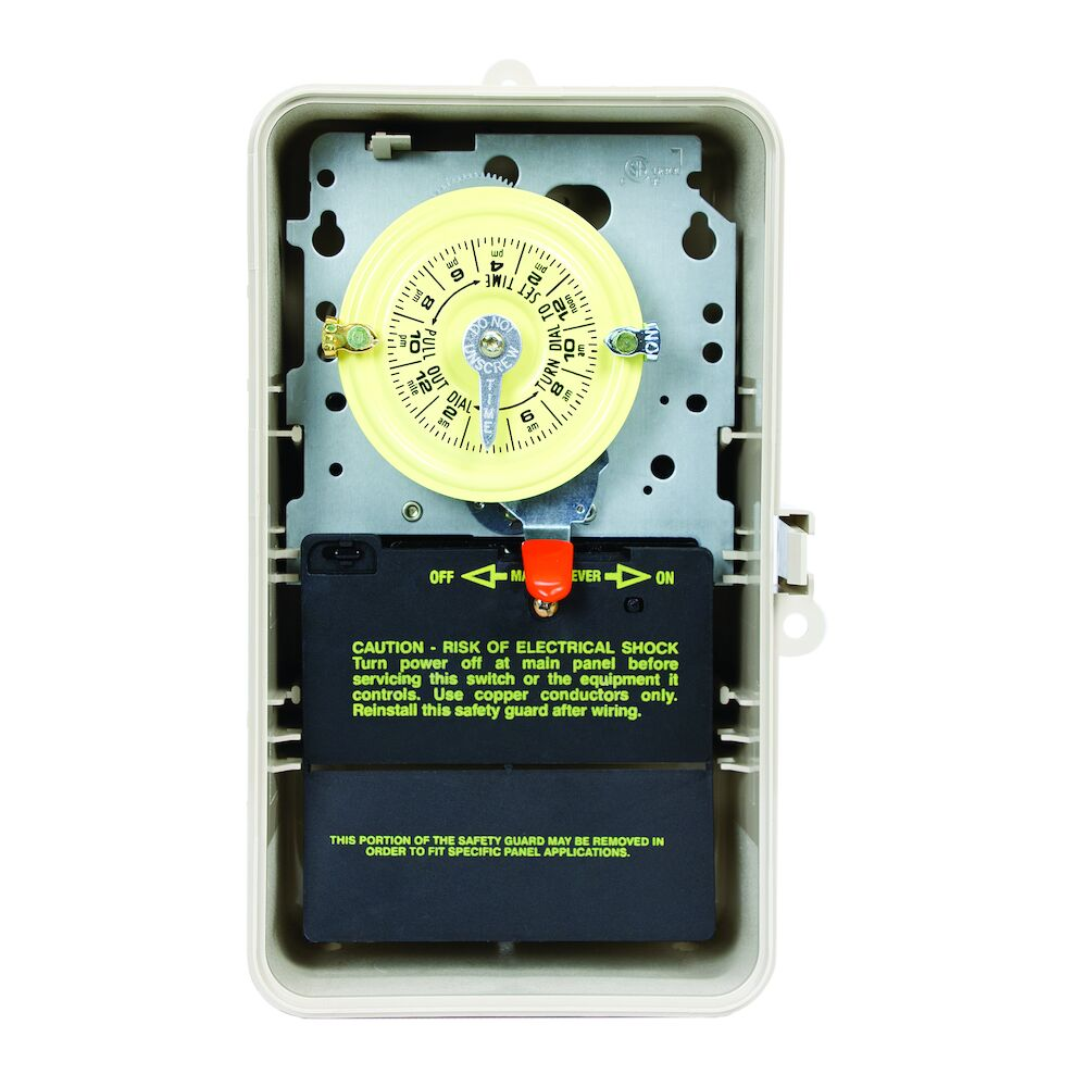 24-Hour 208-277V Mechanical Time Switch, DPST, Type 3R Plastic Enclosure redirect to product page
