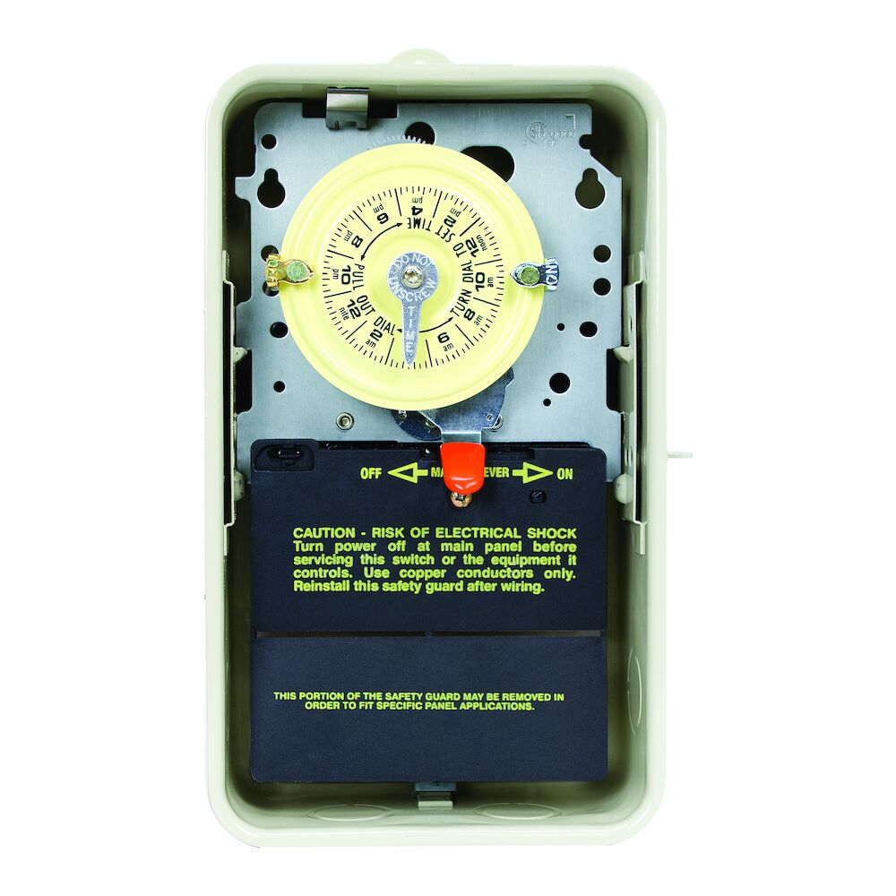 24-Hour 208-277V Mechanical Time Switch, DPST, Type 3R Metal Enclosure redirect to product page